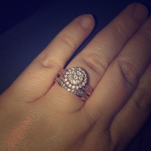 Jewelry - 1 1/4 carat rose gold wedding set